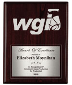 WGI Rosewood Silver Half Plate Plaque