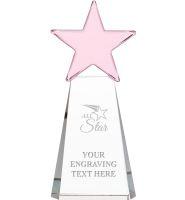 Pink Dynostar Crystal Awards