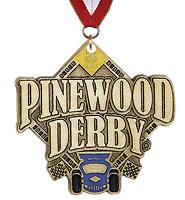 Pinewood Derby ® Medal