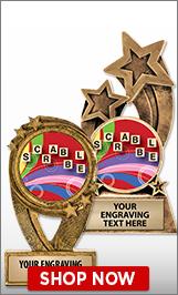 Scrabble Sculptures
