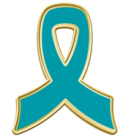Teal Awareness Ribbon Pin