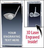 Golf Driver 3D Laser Crystal