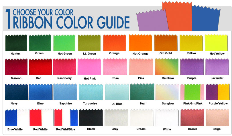 Step 1: Ribbon Color Guide
