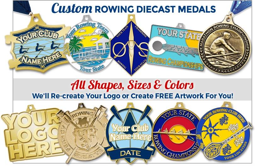 Custom Rowing Diecast Medals