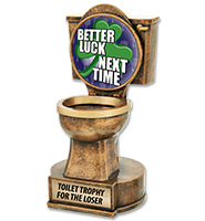 For The Loser Toilet Sculpture