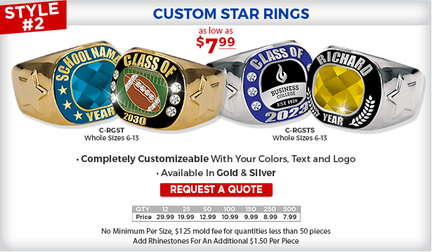 Custom Star Rings