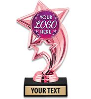 """6 3/4"""" Pink Skyrocket Custom Trophy"""