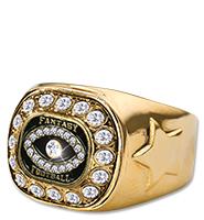 Fantasy Football Gold Crystal Ring