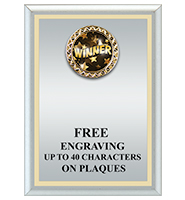 U-Sports Silver Plaque With Gold Plate