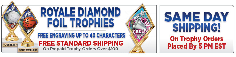 "5 3/4"" Royale Diamond Foil Trophy"