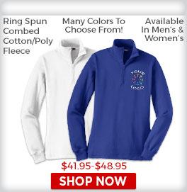 Zip Fleece Sweatshirts