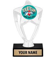 """6"""" White Star Custom Insert Trophy"""