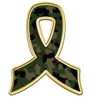 Camouflage Awareness Ribbon Pin