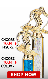 Alpine Ski Racing Column Trophies