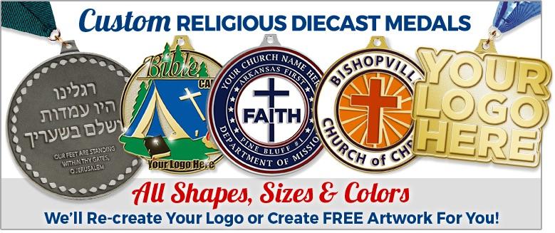 Custom Crown Religious Diecast Medals