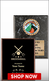 Broomball Plaques
