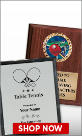 Table Tennis Plaques