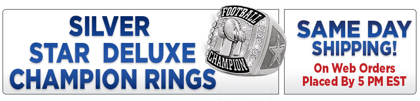 Silver Star Deluxe Champion Rings