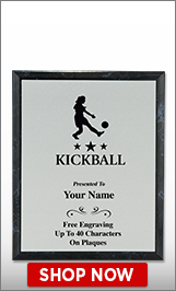 Kickball Plaques