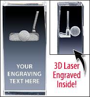Golf Putter 3D Laser Crystal
