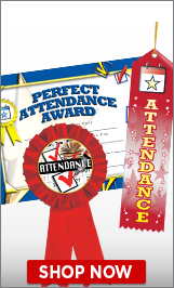 Attendance Certificates & Ribbons
