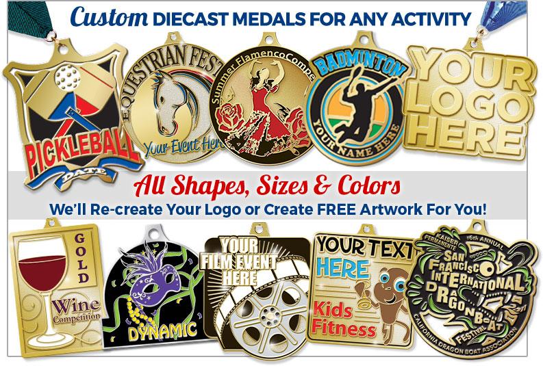 Custom Any Sport Diecast Medals