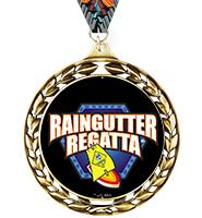 Laurel Wreath Raingutter Regatta® Insert Medal