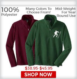 Zip Pullover Fleece Shirts