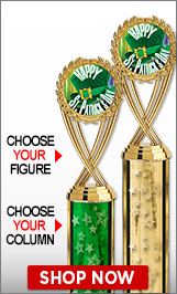 St. Patrick's Day Column Trophies