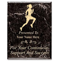 U-Sports Black Marbleized Plaques With Gold Text