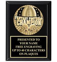 Fantasy Football Medallion Plaque