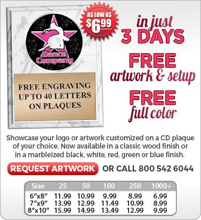 Custom Crown CD Plaques