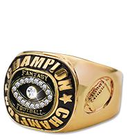 Fantasy Football Gold Champion Ring