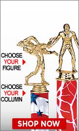 Wrestling Column Trophies
