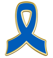 Blue Awareness Ribbon Pin