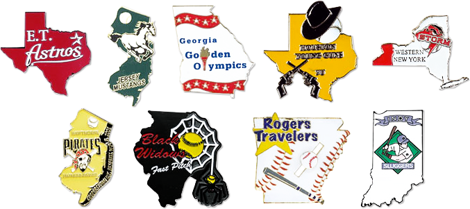State Shaped Pins