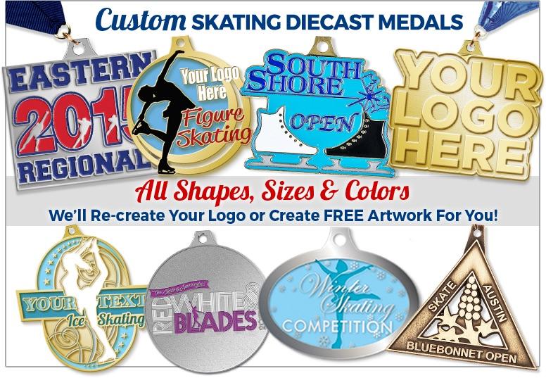 Custom Skating Diecast Medals