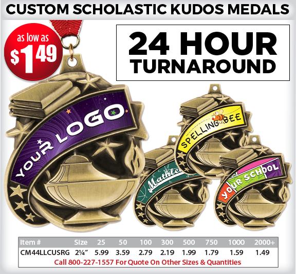 Custom Kudos Academic Medals