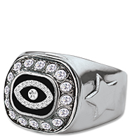 Fantasy Football Silver Crystal Ring