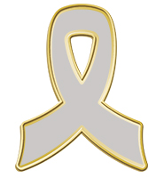 Gray Awareness Ribbon Pin