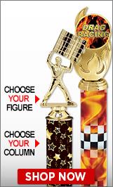 Drag Racing Column Trophies