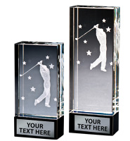 Golf Onyx Laser Crystal
