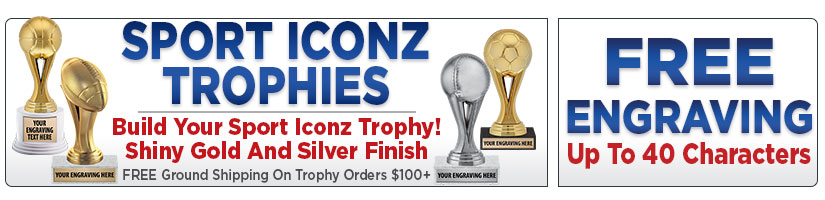 Gold & Silver Sport Iconz Trophies