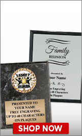 Family Reunion Plaques