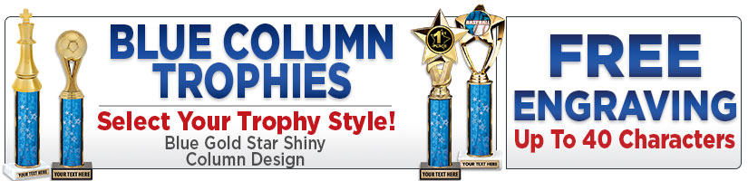 Blue Column Trophies