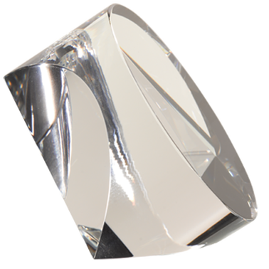 "3"" CRYSTAL PRISM PAPERWEIGHT"