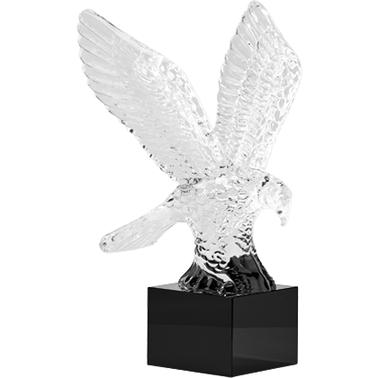 "9.25"" FLYING EAGLE CRYSTAL"