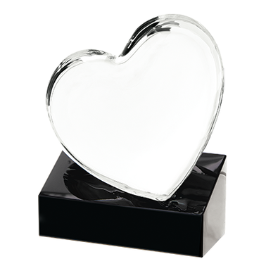 "5"" LOVING HEART CRYSTAL"