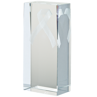 CHARITY RIB LASER CUT CRYSTAL