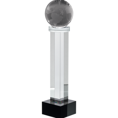 "6""GLOBE AUSTERITY CRYSTAL"